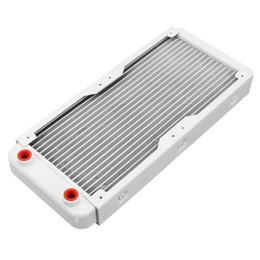 ordinateurs liquides Promotion Échangeur de chaleur liquide en aluminium blanc 120/240 / 360mm de décharge de l'eau pour le boîtier d'ordinateur Refroidisseur d'eau de fil de refroidissement par eau de fil
