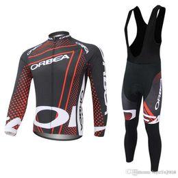 ciclo orbea Rebajas Pro Team ORBEA Jerseys de ciclismo traje de manga larga bicicleta maillot ropa ciclismo mtb bicicleta ropa de secado rápido Hombres ciclismo ropa C0423