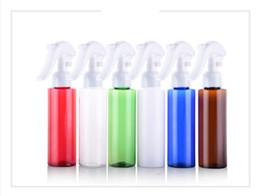 Vaporisateur carré rechargeable en Ligne-100ml d'épaule carrée Bouteille De Pulvérisation Colorée Cosmétiques Emballage Bouteilles En Plastique Mist Spray Trigger Rechargeable 80 PCS