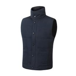 Chaqueta de color beige online-Envío rápido Marca chaqueta de invierno para hombre FreeStyle Chaleco Goose Chaleco Chaleco abajo abajo chaqueta 7 color c-07
