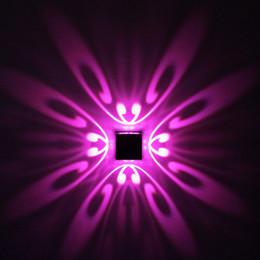 luzes de passo modernas Desconto Modern 1 W 3 W Borboleta LED Wall Lamp AC 85-265 V Montado Na Parede de Alumínio Arandela Casa Decoração Interior Iluminação KTV Partido Bar luz