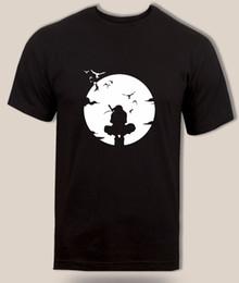 Naruto anime t shirts online-Camiseta Uchiha Itachi Pueblo de hojas ocultas Anbu Black Ops Naruto Anime Adult Kids 100% algodón casual hombre camiseta o cuello impresión de manga corta