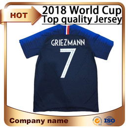 Wholesale Clothes For Home - 2018 Limited New Men Short World Cup Soccer Jersey Home 7 Griezmann Mbappe Shirts National Team 9 for Giroud 15 Pogba Football Clothes Sale