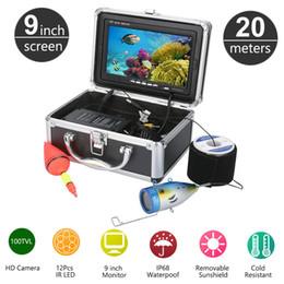 Wholesale underwater fish cameras - 20M 1000TVL HD CAM 9inch Monitor Fish Finder Underwater Fishing Video Camera