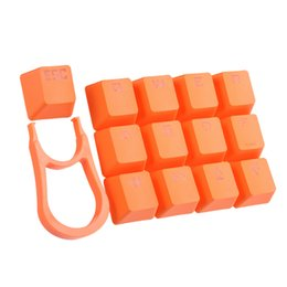 Wholesale Keys Caps Covers - PBT Keycaps 13 Key Caps Double Color Injection Backlit Covers Keyset with Keycap Puller for Mechanical Gaming Keyboard Orange