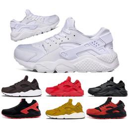 buy popular 44cda af0ec luftschuh Rabatt Großhandelsfrauen, die Schuhe laufen Air Huarache 4 IV  Dreifachweißschwarzes Rotgoldmänner Sportschuhe beschleunigen Turnschuhe