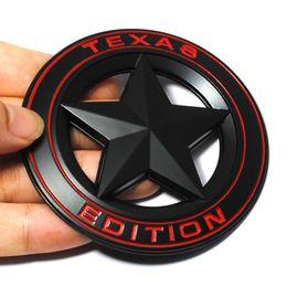 Wholesale Pentagram Metal - 3D Metal TEXAS EDITION Shield Pentagram Emblem Badge Car Fender Side Tail Body Sticker for JEEP Wrangler Liberty Grand Cherokee