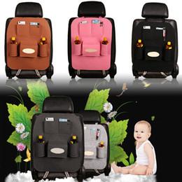 Wholesale vehicle fabric - Multi-functional Car Seat Storage Bag Hanging Car Covers Back Seat Holder Pocket Vehicle Portable Storage Box Organizer AAA306