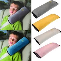 La sicurezza della cintura di sicurezza copre i bambini online-2018 Baby Kids Soft Safety Car Seat Cinture Coprisedile Harness Cuscino Protezione spalle 5 colori