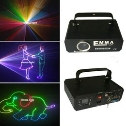Wholesale Dj Laser Systems - Mini 1.2w RGB laser 3D animation scanner projector ILDA DMX dance bar Xmas Party Disco DJ effect Light stage Lights Show system