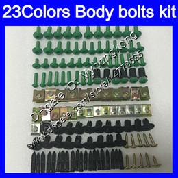 2019 yamaha r6s kit Kit completo de tornillos de carenado para YAMAHA YZFR6S 06 07 08 09 YZF-R6S YZF600 YZF R6S 2006 2007 2008 2009 Tuercas de cuerpo tornillos kit de perno tuerca 25 colores yamaha r6s kit baratos