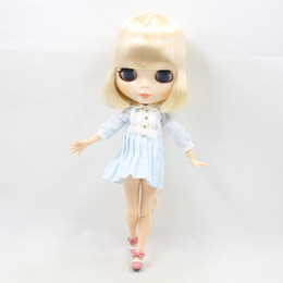 Wholesale Nude Dolls - Dream Fairy blyth doll Golden hair 130BL0519 joint body blyth doll nude 1 6