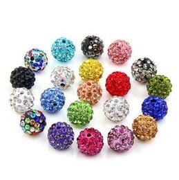 Wholesale making clay beads - 20pcs   Lot 10mm Shamballa Clay Crystal Disco Ball beads Shamballa Diy beads for jewelry making Fashion Jewelry 20 Colors