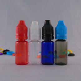 Wholesale Plastic Drop Bottles - 10ml Mini Plastic PET E Liquid Bottle Eye Drop Bottle With Colorful Plastic Eye Dripper Tamper Evident Cap Childproof Lock Bottle