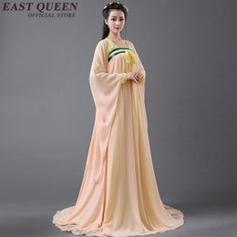 Wholesale chinese dance clothes - Ancient chinese costume chinese folk dance women chinese dance costumes han dynasty clothes AA3110 Y
