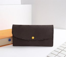 Wholesale Genuine Leather Checkbook Wallet - fashion 5 color women Wallets high quality Luxury bag Size 19*10 cm With box model 60136