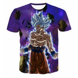 Argentina 2018 Nuevo Anime Dragon Ball Z Galaxy Goku 3D camisetas impresas para hombre para mujer 3d camisetas camisetas casuales Tops supplier mens galaxy t shirt Suministro