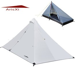 Wholesale Professional Construction - Wholesale-ARICXI Outdoor Ultralight Camping Tent 4 Season 1 Single Person Professional Rodless Tent