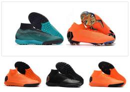 Wholesale Elite Football Boots - 2018 High Top Mens Women Boys Soccer Shoes Mercurial Superfly SuperflyX VI 6 Elite CR7 Cristiano Ronaldo 360 FG IC Football Boots Cleats