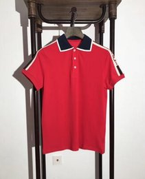 Wholesale Red White Plaid Shirt - summer Brand New men's polo shirt men short sleeve Mercerized Cotton shirt jerseys polo T shirts