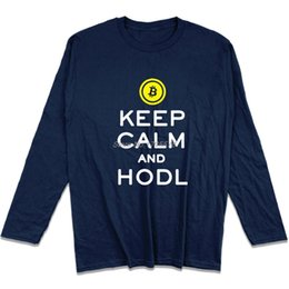 68c5ecb38 Chinese Keep Calm And Hodl Crypto Currency Cool T Shirts For Men Teenage  O-Neck