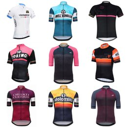 Wholesale cycling short sleeve jersey - Tour de Italy 2018 Pro Men Team Cycling Short Sleeve Jersey Bike Sportwear Top Shirts Summer Bicycle Clothing ropa maillot Ciclismo C2303