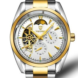Wholesale Vintage Skeleton Automatic Watch - Men Skeleton Automatic Mechanical Watchs Gold Skeleton Vintage Man Watch Mens FORSINING Watch Top Brand Luxury