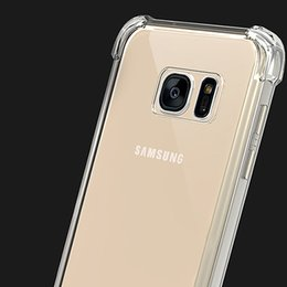 Wholesale Thick Phone Cases - Thick TPU Case Crystal Gel Silicon Clear Phone Shell for Samsung S9 Plus S7 edge S6 J1 Ace J330 J530 J730 J7 Prime