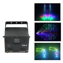 Wholesale rgb laser dmx ilda - AUCD 1W DMX ILDA RGB Animation Beam Laser Projector Light DJ Party Nightclub Professional KTV Wedding Stage Lighting FB-6