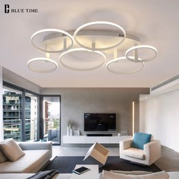 Wholesale Simple Ceiling For Bedroom - New Minimalist Modern Led Ceiling Lights For Living Room Bedroom Dining Room Lamp AC85-265V Simple led Ceiling Lamp Fixtures