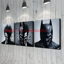 Wholesale Batman Arts - DC Joker Batman-3,3 Pieces Home Decor HD Printed Modern Art Painting on Canvas (Unframed Framed)