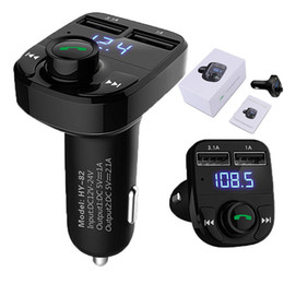 Auto-fm für iphone online-1 STÜCKE Freisprecheinrichtung Kfz-ladegerät Bluetooth FM Transmitter Musik adapter Mit 3.1A Dual USB Port Kompatibel für Apple iphone, Samsung Galaxy, LG