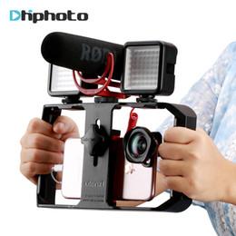 Ulanzi, teléfono inteligente, cámara de video, configuración de equipo, dispositivo de video portátil, micrófono de grabación, lámpara LED para iPhone 8, cine móvil desde fabricantes