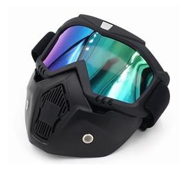 Motocicleta Máscara Facial Destacável Modular Equitação Capacete de Moto Óculos de Proteção Escudo Máscara Facial Protetor de Olho Aberto de