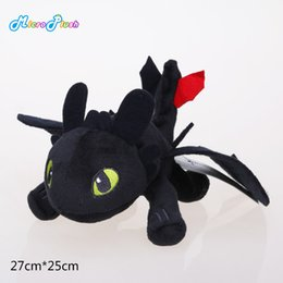 Wholesale Toothless Plush Stuffed Animal - 9'' HOW TO TRAIN YOUR DRAGON MINI PLUSH Toothless Night Fury Toy dragon kids plush toys Stuffed animals
