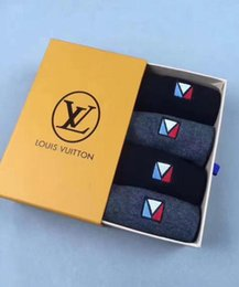 New SUPLV chaussettes pour hommes Déodorant antibactérien coton mode chaussettes à la cheville 4 paires avec boîte de luxe de marque chaussettes sous-vêtements ? partir de fabricateur