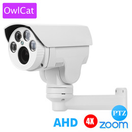 Caméra ptz analogique en Ligne-OwlCat AHD Caméra PTZ extérieure HD 1080P AHDH 4X 10X Zoom Mise au point automatique 2.8-12mm 5-50mm 2MP Caméra infrarouge haute définition analogique