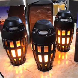 2019 tocha de rádio led 2018 i3 led tocha cintilação chama luz lâmpada bluetooth speaker atmosfera estéreo noite lâmpada de presente de natal preto mis135 tocha de rádio led barato