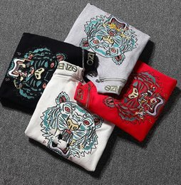 Wholesale Best Fleeces - Embroidery zipper Tiger head Printed eyes couple sweater,kanye fashion casual best quality kanye loose long sleeve t-shirts