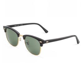 Brand design 2018 vente chaude demi-trame lunettes de soleil pour femmes hommes Club Sun lunettes 51mm lunettes de conduite en plein air uv380 Lunettes avec étui ? partir de fabricateur
