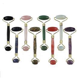 Nouveau Jade Visage Rouleau De Massage 8 Couleurs Naturel Masseur Visage Visage Oeil Cou Cou Massage Du Corps Beauté Outil Maquiagem ? partir de fabricateur