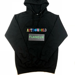 embroideries sweatshirts Coupons - 2018 Astroworld hoodie Mens high quality designer fleece sweatshirts Free shipping embroidery hip hop Pullover New Travis Hoodies