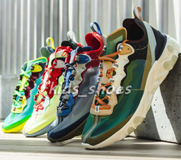 Canada New React Element 87 Hommes Femmes Haute Qualité Styliste de Mode Voile Light Bone Signal Bleu Vert Brume Électrique Jaune Chaussures Casual Offre