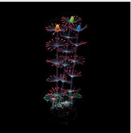 pesce giallo del serbatoio Sconti Simulazione artificiale in silicone di corallo Fiore pianta ornamenti acquario serbatoio di pesce realizzato con effetto dinamico effetto fluorescente