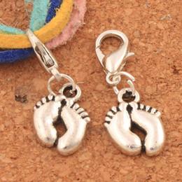 Aragoste online-Piccoli piedi aragosta artiglio fermaglio perline perline 26.7x9mm 100PCS argento tibetano gioielli fai da te C558