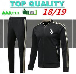 Jerseys de fútbol online-AAA + de calidad superior 2018 2019 Juventus jersey de fútbol chándales 18 19 suéter RONALDO HIGUAIN DYBALA MANDZUKIC chaqueta de fútbol chandal