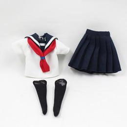 boneca de borracha rosa Desconto dias da fortuna Dias da fortuna Boneca Blyth Um conjunto de escola ubiforme, incluindo as meias para o traje cosplay de boneca de 12 polegadas