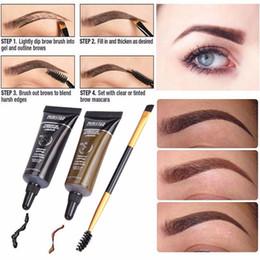 2pc wasserdicht Tint Augenbraue Henna mit Wimperntusche Eyebrows Pinsel Schönheit Werkzeug