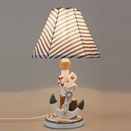 lampada di ancoraggio Sconti OOVOV Mediterraneo Ancore Camera Desk Lamp creativo Kids Room lampade da scrivania della stanza di bambino di studio Decorative Light Table
