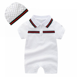 684a642bffaa China Summer Baby Boys Girls Rompers Short Sleeved Striped Cotton Infant  Jumpsuit Newborn Cotton Playsuit Costume